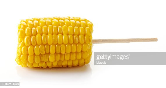 Sweet coen on the cob, isolated on white : Foto de stock