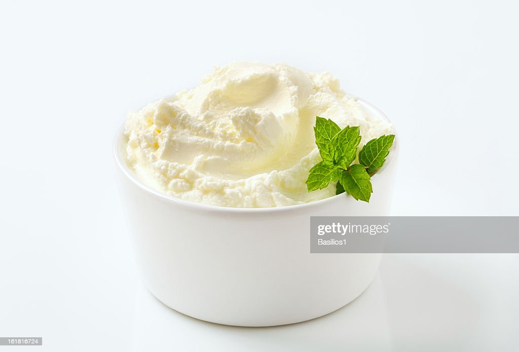sweet cream cheese in a bowl