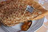 Sweet crepe with jam  Breton cuisine