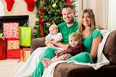 Sweet family on Christmas morning