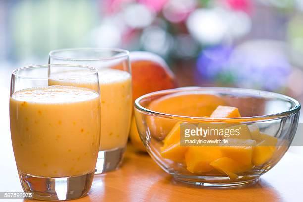 Sweet mango lassi drinks