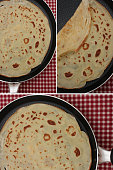 Sweet pancakes in cooking