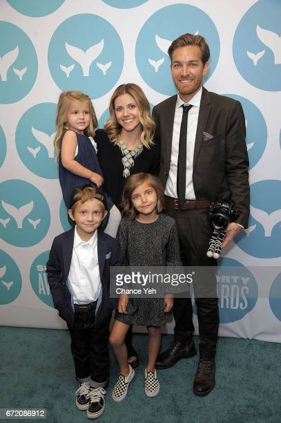 Sweet Pea Studer Chad Studer Rhea Studer Shiloh Studer and Farrell Studer of That Happy Famiy attends 9th Annual Shorty Awards at PlayStation Theater...