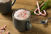 Sweet Peppermint Hot Coffee Mocha with Whipped Cream