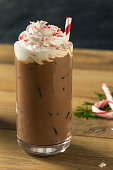 Sweet Peppermint Iced Coffee Mocha with Whipped Cream