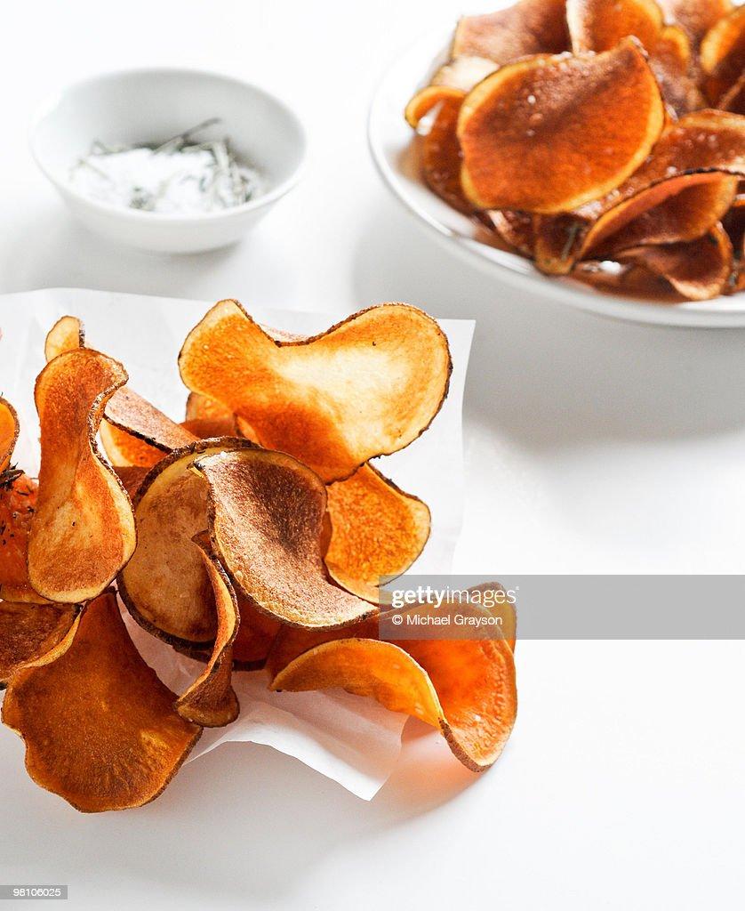 Sweet Potato Chips : Stock Photo