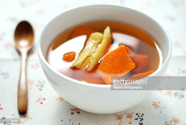 Sweet potato dessert soup