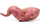 Sweet potato, isolated on white with clipping path