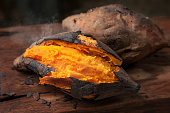 Delicious baked japanese sweet potato