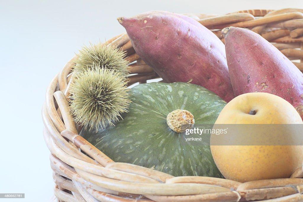 Batata doce, de Abóbora, Castanha : Foto de stock