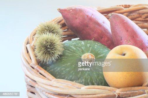 sweet potato , pumpkin ,Chestnut : Stock Photo