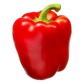 Sweet red pepper isolated on white background. With clipping path.Sweet red pepper isolated on white background. With clipping path.Sweet red pepper isolated on white background. With clipping path.
