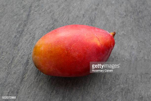 Sweet, ripe mango on lava tile, Madeira