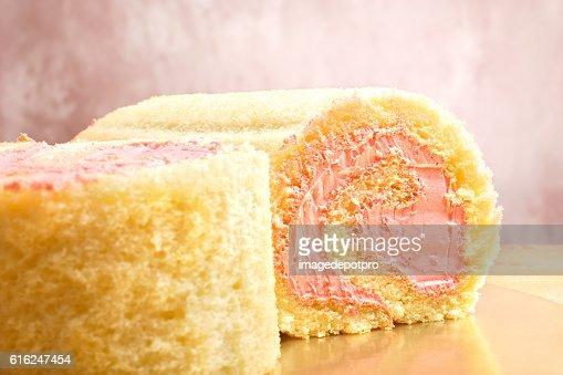 sweet roll cake : Stock Photo