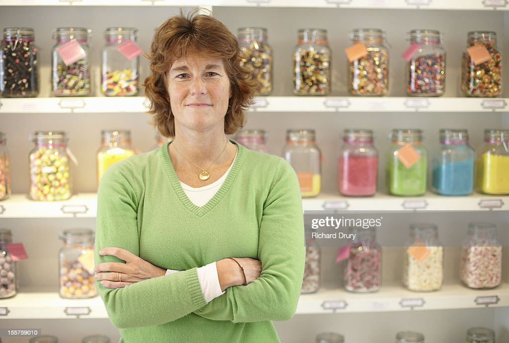 Sweet shop owner : Stock Photo