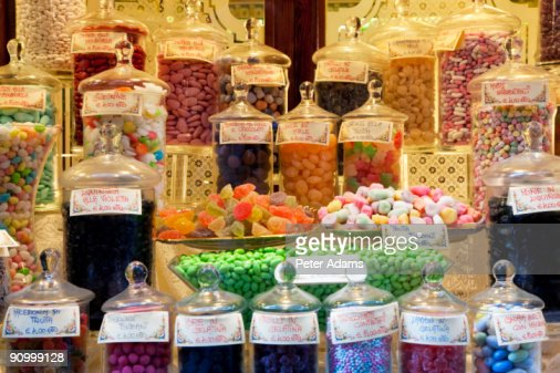 Sweet shop window, Bergamo, Lombardy, Italy : Stock Photo