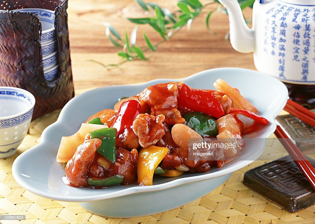 Sweet-and-sour Pork : Stock Photo