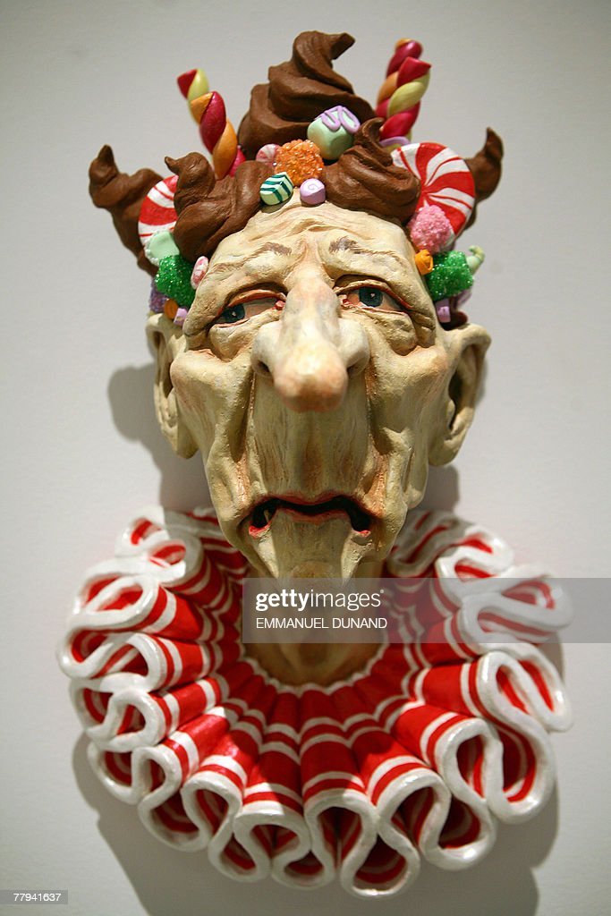 'Sweetie' a sculpture by artist Owen Smith is on display at an exhibition by New Yorker magazine artists inspired by the Grimm Brothers fairy tale 'Hansel and Gretel' at the Metropolitan Opera Gallery in New York, 15 November 2007. The exhibition 'Hansel and Gretel' was inspired by the Metropolitan Opera's holliday presentation of Engelbert Humperdinck 's operatic version of the Grimm fairy tale scheduled to open 24 December 2007. AFP PHOTO/Emmanuel DUNAND