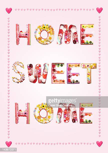 Sweets and candy writing Home Sweet Home
