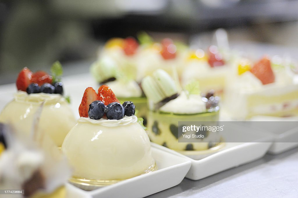 Sweets of fresh pastry that is made
