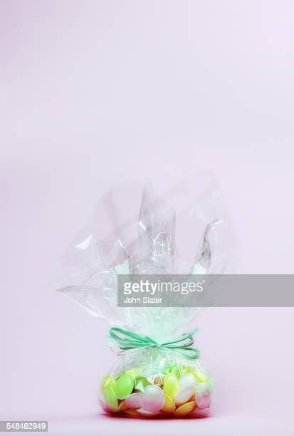 Sweets wrapped in clear bag