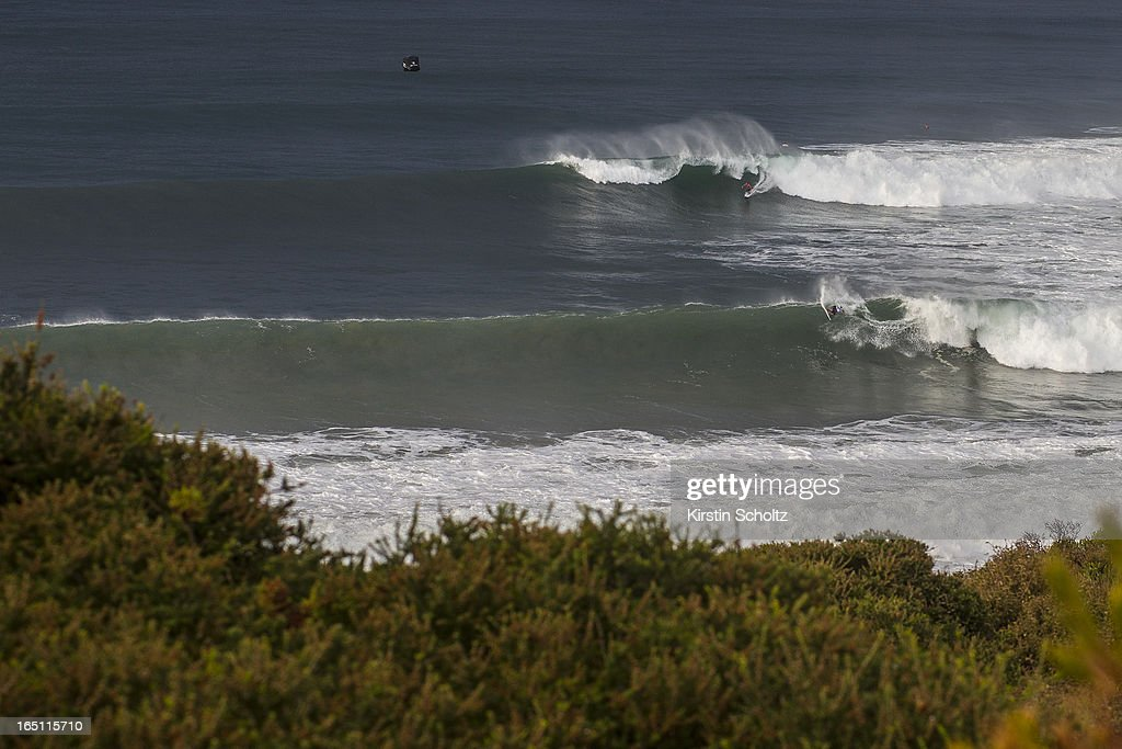 Swell lines roll in at Bells on March 31, 2013 in Bells Beach, Australia.