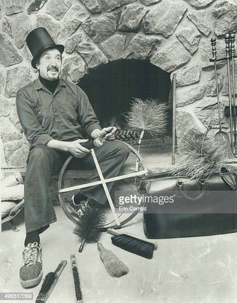 Swept away Bill Tobin of Toby's Chimney Sweep poses with the tools of his trade Sweeps get rid of creosote which helps prevent dangerous chimney fires