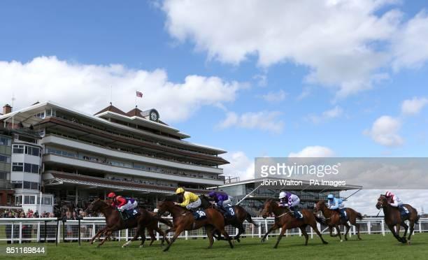 Swift Cedar ridden by kieren Fallon wins The Be Wiser Insurance Handicap at Newbury Racecourse Berkshire