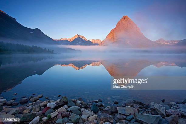 Swiftcurrent Lake at Sunrise