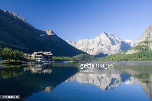 Lago Swiftcurrent : Foto stock