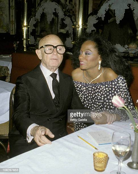 Swifty Lazaar and Diana Ross during Swifty Lazaar's Academy Awads Party at Bistro Gardens March 31 1981 at Bistro Gardens in Beverly Hills California...