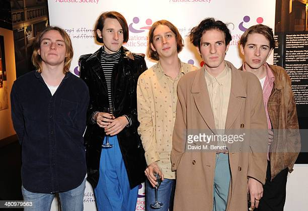Swim Deep attend Spectrum 2014 an annual fundraising event in support of the National Autistic Society to launch World Autism Awareness Month in the...