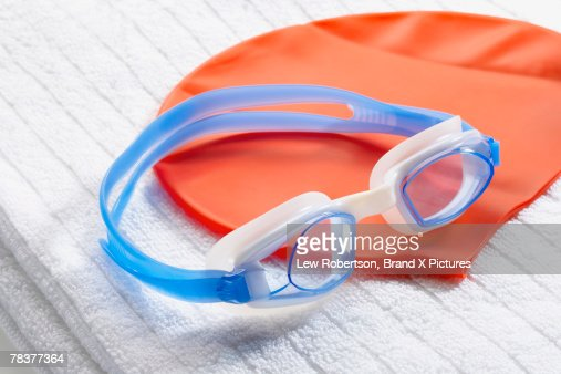 Swim goggles and cap
