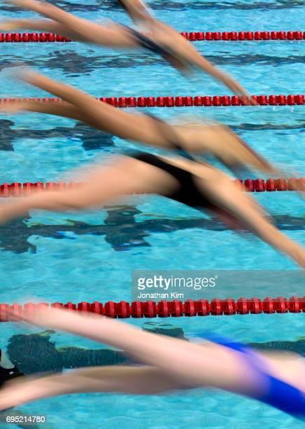 Swim meet action