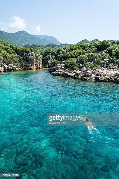 Swiming in Kas, Turkey
