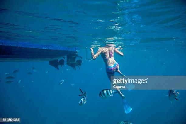 Swiming in the Indian ocean
