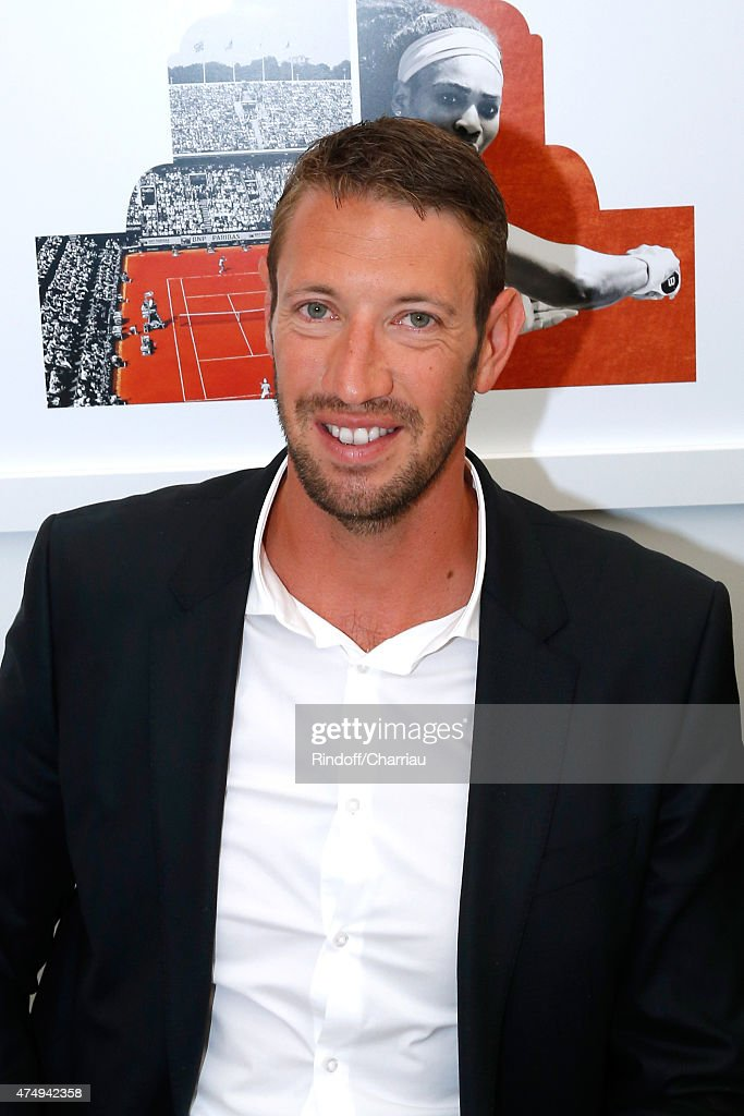 Swimmer Alain Bernard attends the 2015 Roland Garros French Tennis Open - Day Five, on May 28, 2015 in Paris, France.
