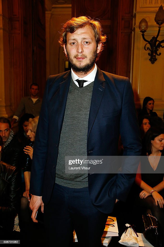 Swimmer Amaury Leveaux attends the Dany Atrache Spring Summer 2016 show as part of Paris Fashion Week on January 25, 2016 in Paris, France.