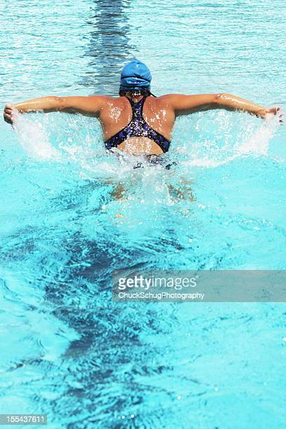 Swimmer Butterfly Stroke Sports Competition