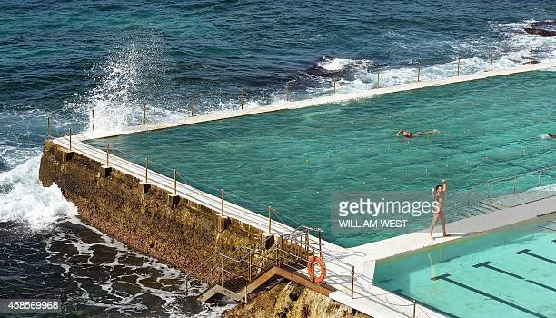 A swimmer complete laps at Bondi's Icebergs one of country's largest and bestknown swimming clubs boasting 1000 members 400500 of whom compete every...