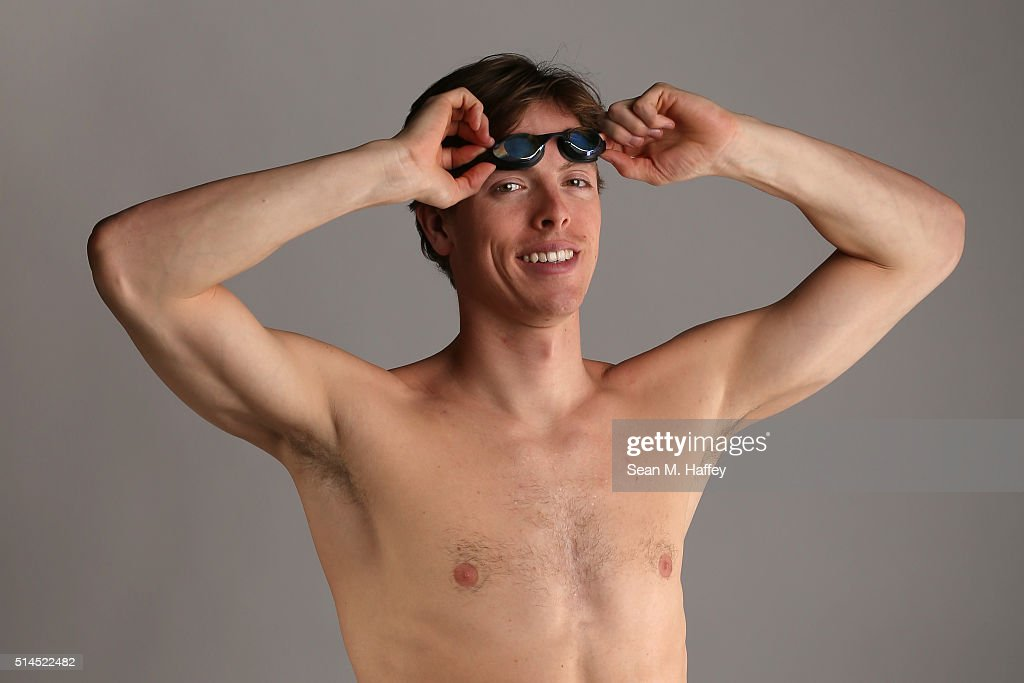 Swimmer <a gi-track='captionPersonalityLinkClicked' href=/galleries/search?phrase=Connor+Jaeger&family=editorial&specificpeople=9496555 ng-click='$event.stopPropagation()'>Connor Jaeger</a> poses for a portrait at the 2016 Team USA Media Summit at The Beverly Hilton Hotel on March 8, 2016 in Beverly Hills, California.