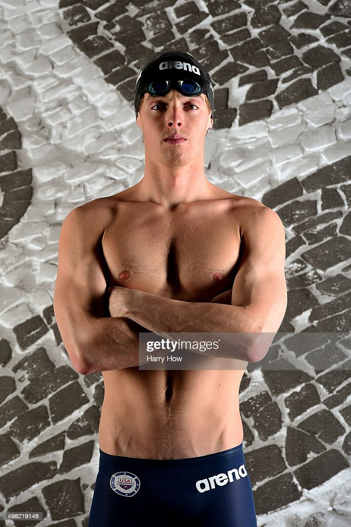 Swimmer <a gi-track='captionPersonalityLinkClicked' href=/galleries/search?phrase=Connor+Jaeger&family=editorial&specificpeople=9496555 ng-click='$event.stopPropagation()'>Connor Jaeger</a> poses for a portrait at the USOC Rio Olympics Shoot at Quixote Studios on November 21, 2015 in Los Angeles, California.