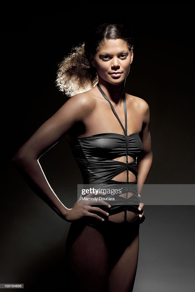 Swimmer Coralie Balmy poses at a portrait session in Paris June 2010.