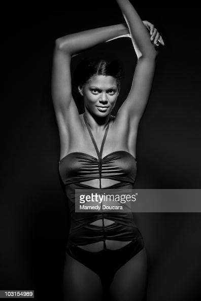 Swimmer Coralie Balmy poses at a portrait session in Paris June 2010