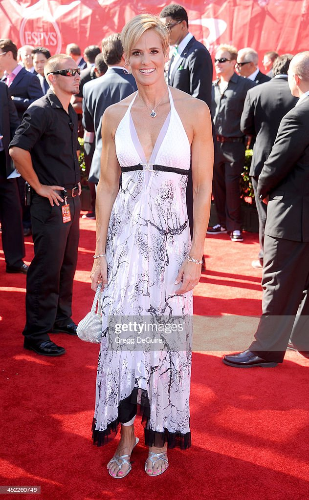 Swimmer <a gi-track='captionPersonalityLinkClicked' href=/galleries/search?phrase=Dara+Torres&family=editorial&specificpeople=2419430 ng-click='$event.stopPropagation()'>Dara Torres</a> arrives at the 2014 ESPY Awards at Nokia Theatre L.A. Live on July 16, 2014 in Los Angeles, California.