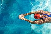 Natation plongée en piscine