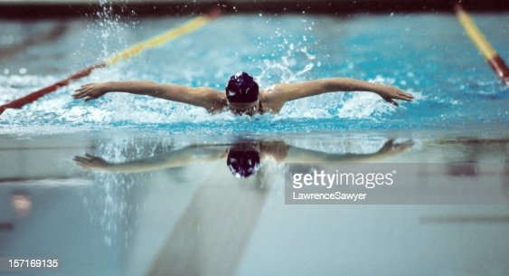 Swimmer, doing the butterfly