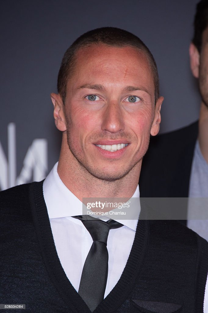 Swimmer Frederic Bousquet attends the 'Marseille' Netflix TV Serie Wold Premiere At Palais Du Pharo In Marseille on May 4, 2016 in Marseille, France.