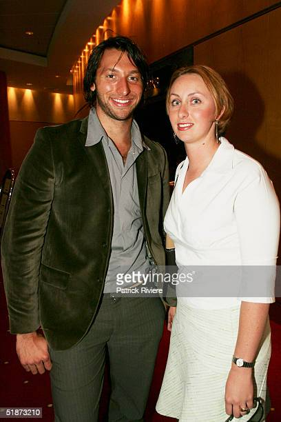 Swimmer Ian Thorpe and his sister Christina Williams attend the Charity Golf Day presentation for Ian Thorpe's Fountain of Youth foundation in the...