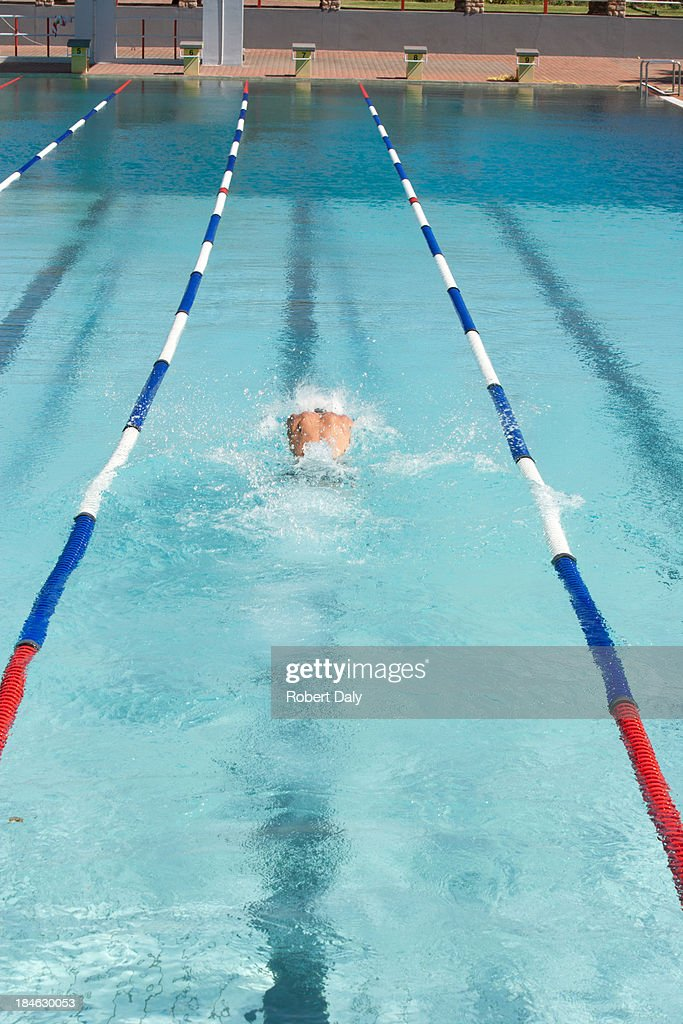 Swimmer in a pool : Stock Photo